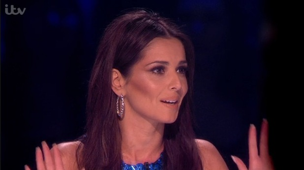 Cheryl Fernandez-Versini reacts to Mel B's vote on The X Factor, ITV 30 November