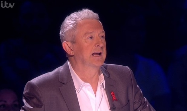 Louis Walsh on The X Factor - 30 November 2014.