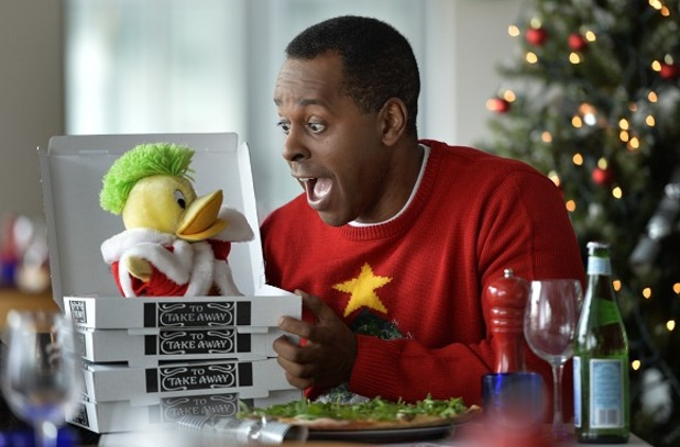 Andi Peters and Ed The Duck reunite at Pizza Express - 2 Dec 2014