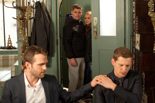 Hollyoaks, Lockie comforts John Paul, Mon 8 Dec