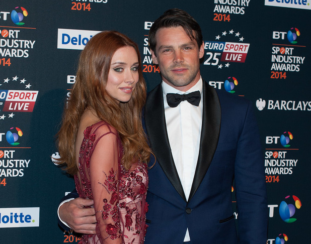 Una Foden, Ben Foden at the BT Sport Industry Awards held at Battersea Evolution - Arrivals. 05/08/2014 London, United Kingdom.