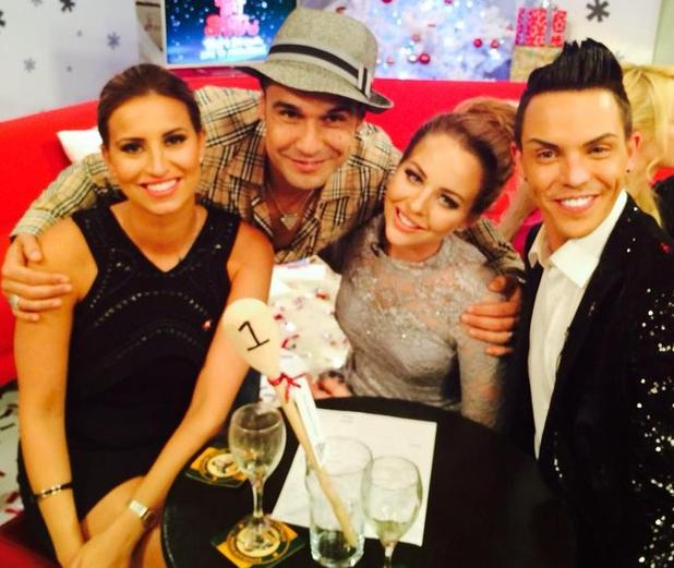 TOWIE's Chico meets Bobby Norris and the TOWIE cast at Text Santa - 1 Dec 2014