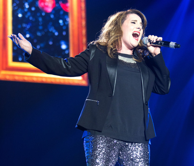 Sam Bailey on The X Factor Live Tour first night at the Odyssey Arena Belfast - 15/2/14.