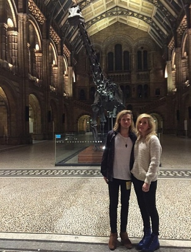 Ellie Goulding surprises Dougie Poynter with Natural History Museum private tour 28 November