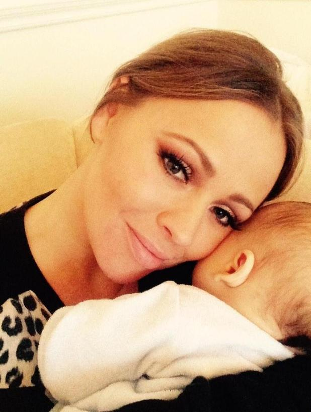 Kimberley Walsh posts first snap of baby Bobby, 5 December 2014