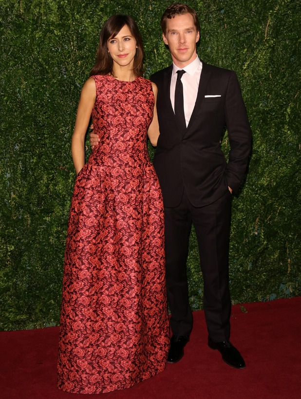 Benedict Cumberbatch and Sophie Hunter: 60th London Evening Standard Theatre Awards 2014 held at the London Palladium - 30 November 2014
