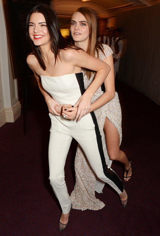 Kendall Jenner and Cara Delevingne attend the British Fashion Awards 2014 in London, England - 1 December 2014