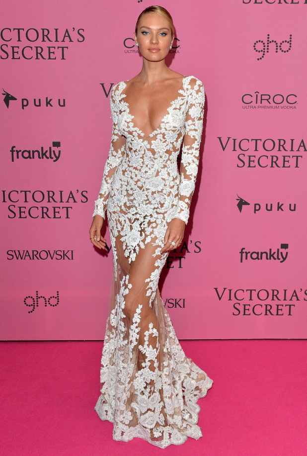 Candice Swanepoel attends the Victoria's Secret Fashion Show after party in London, England - 2 December 2014