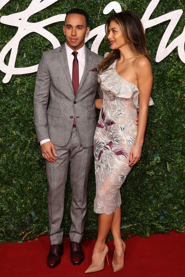 Nicole and Lewis at The British Fashion Awards 2014 held at London Coliseum - Arrivals - 1 December.