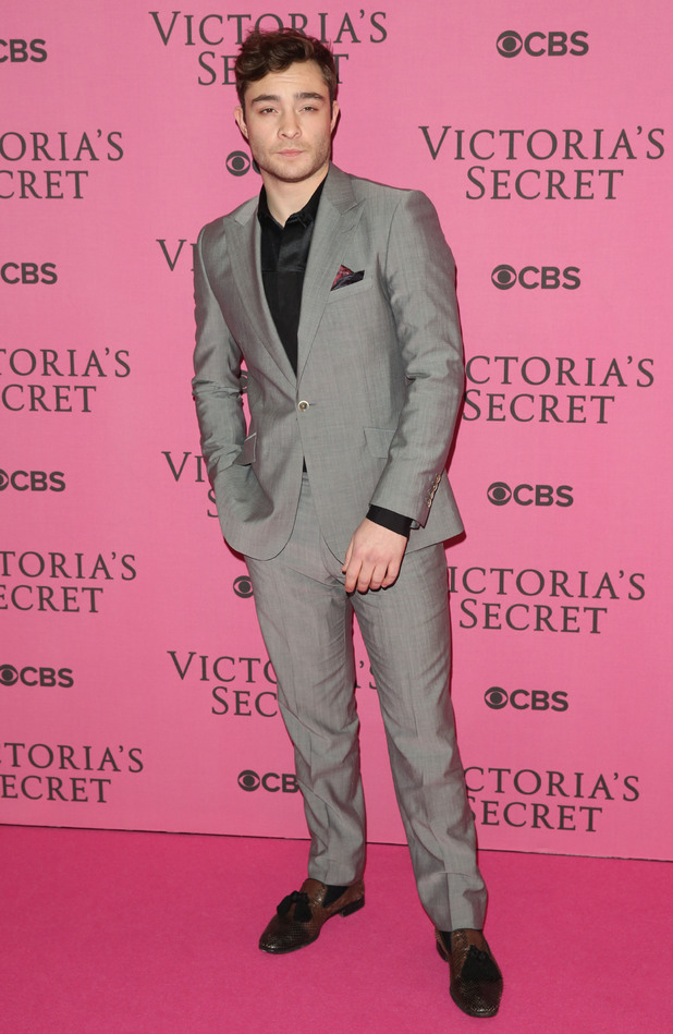 Ed Westwick at the Victoria's Secret Fashion Show 2014 London held at Earl's Court - Arrivals - 2/12/2014.