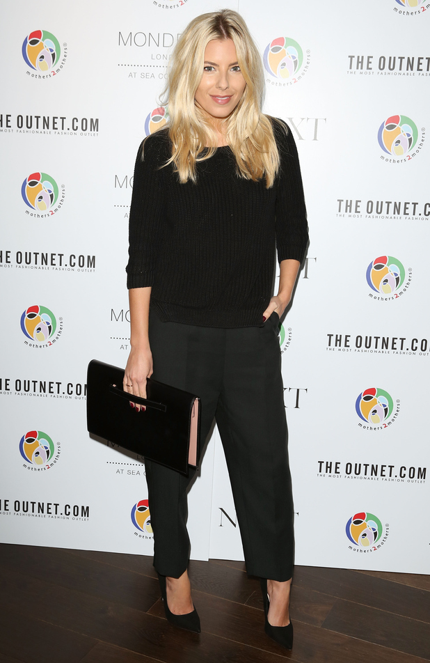 Mollie King attends the mothers2mothers World AIDS Day VIP lunch at the Mondrian Hotel in London - 1 December 2014