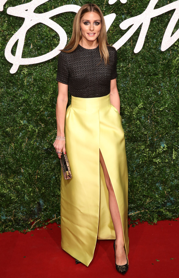 Olivia Palermo attends the British Fashion Awards 2014 in London, England - 1 December 2014
