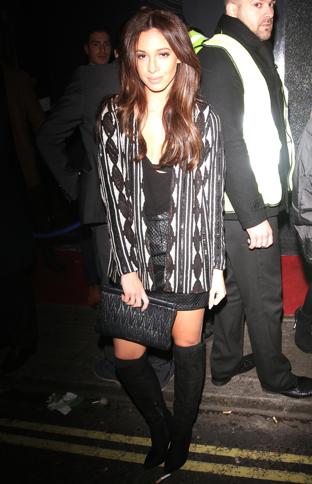 Danielle Peazer steps out at Bonbonniere nightclub in London, England - 2 December 2014