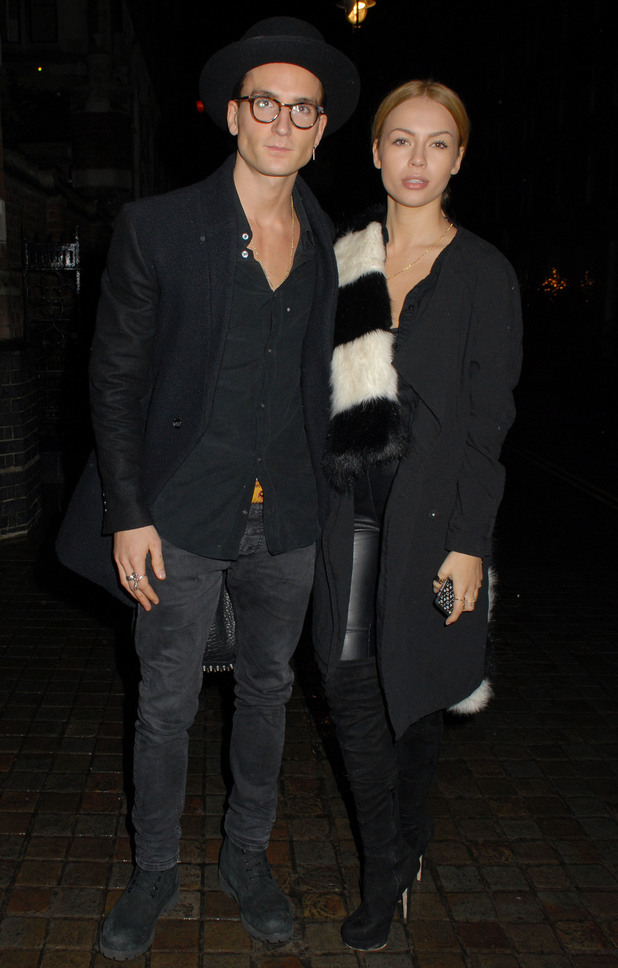 Oliver Proudlock and Emma Louise Connolly outside Chiltern Firehouse, London 4 December