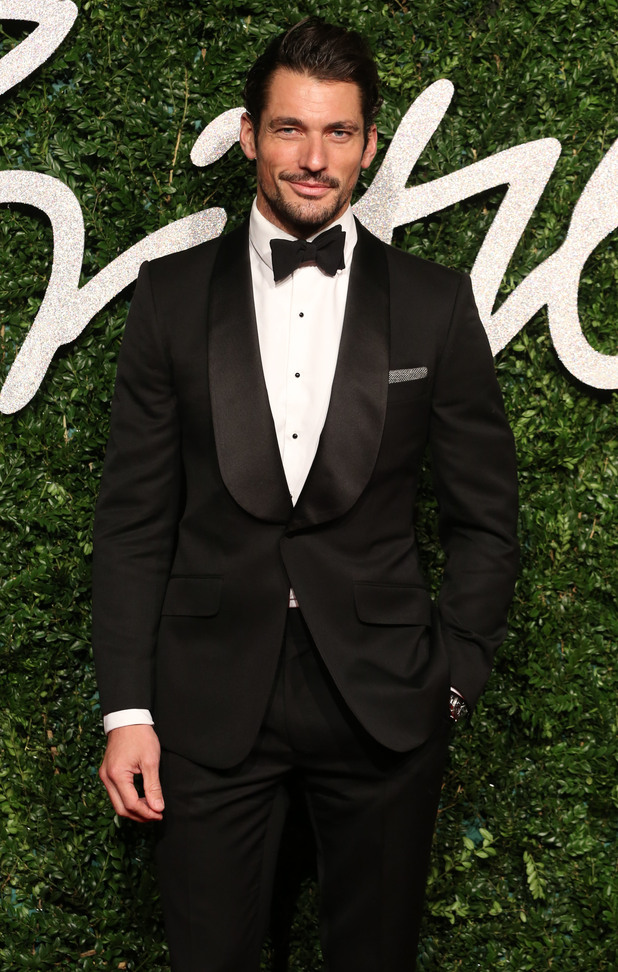 David Gandy attends the British Fashion Awards 2014, held at the London Coliseum - 1 December 2014