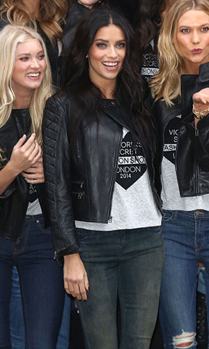 Adriana Lima with the Victoria Secret Angels in London, 1 December 2014