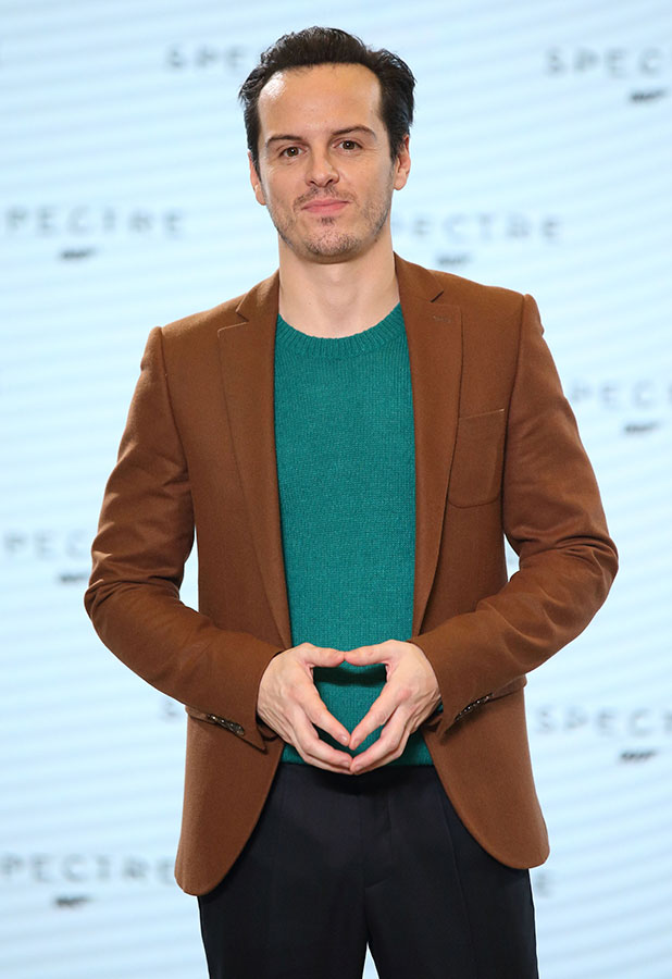 Andrew Scott attends a photocall for Bond 24 at Pinewood Studios on December 4, 2014 in Iver Heath, England.