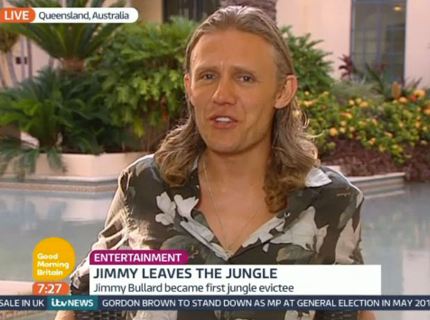 Jimmy Bullard appears on Good Morning Britain after I'm A Celebrity exit, 2 December 2014