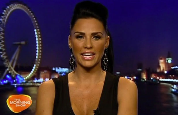Katie Price appears on Australia's Morning Show, 3 December 2014