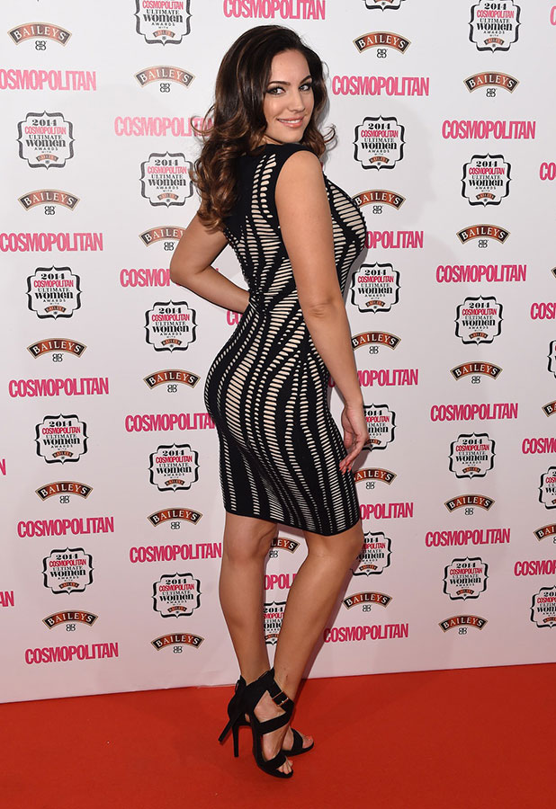 Kelly Brook attends the Cosmopolitan Ultimate Women of the Year Awards at One Mayfair on December 3, 2014 in London, England.