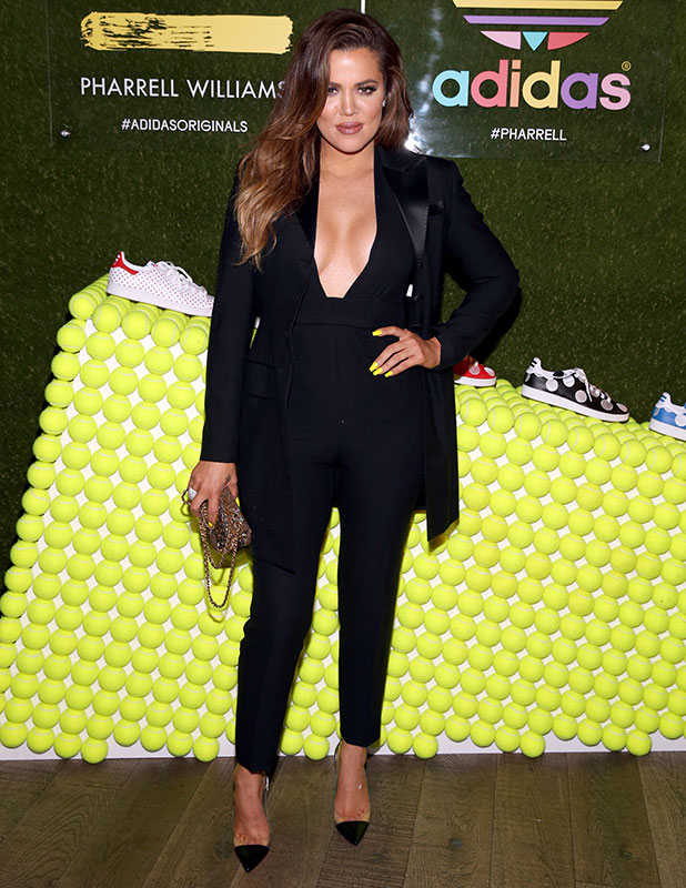 TV personality Khloe Kardashian attends the collaboration celebration of Pharrell Williams and Adidas at Hinoki & The Bird on December 3, 2014 in Los Angeles, California.