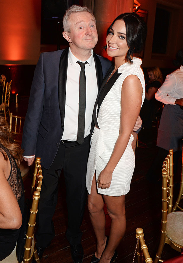 Louis Walsh (L) and Tulisa Contostavlos attend the Cosmopolitan Ultimate Women of the Year Awards at One Mayfair on December 3, 2014 in London, England.