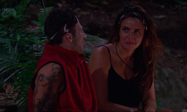 Jake tells Nadia that he feels she has been distant with him since finding out he had a girlfriend on 'I'm A Celebrity... Get Me Out Of Here!', Shown on ITV1 HD, 2 December 2014