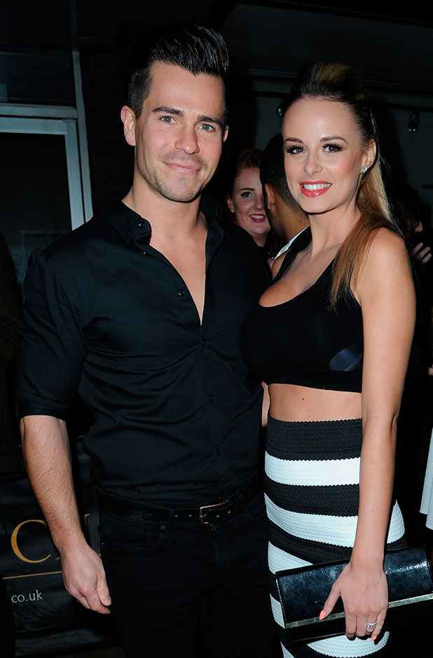 Oliver Mellor and Rhian Sugden arrive at the Milton Club Manchester. Rhian and Oliver recently became engaged, 30 November 2014