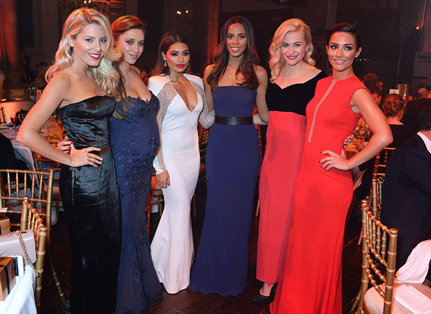 Saturdays attend the Cosmopolitan Ultimate Women Awards in London, 3 December 2014