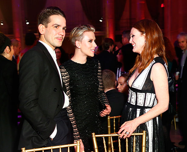 24th Annual Gotham Independent Film Awards, New York, America - 01 Dec 2014 Scarlett Johansson and new husband Romain Dauriac