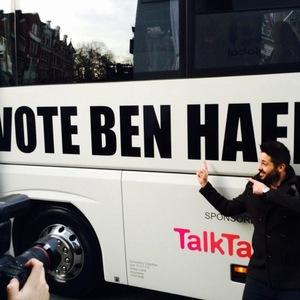 Ben Haenow out on X Factor Battle Bus, Croydon 10 December