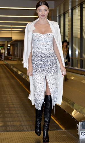 Miranda Kerr at Narita International Airport, 9/12/14.