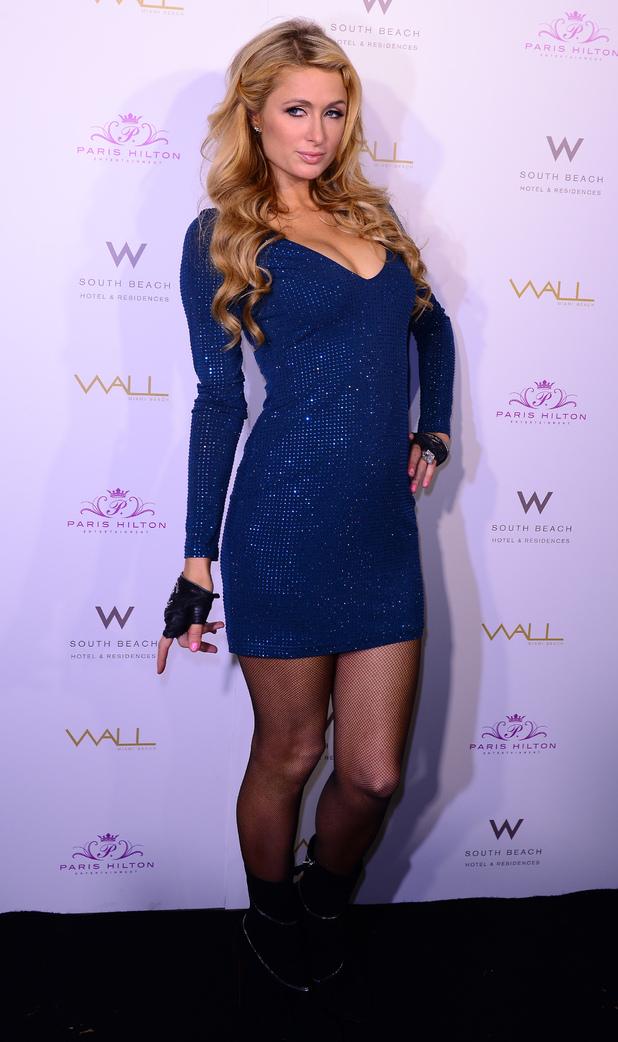 Paris Hilton performs at WALL Miami Beach in America - 6 December 2014