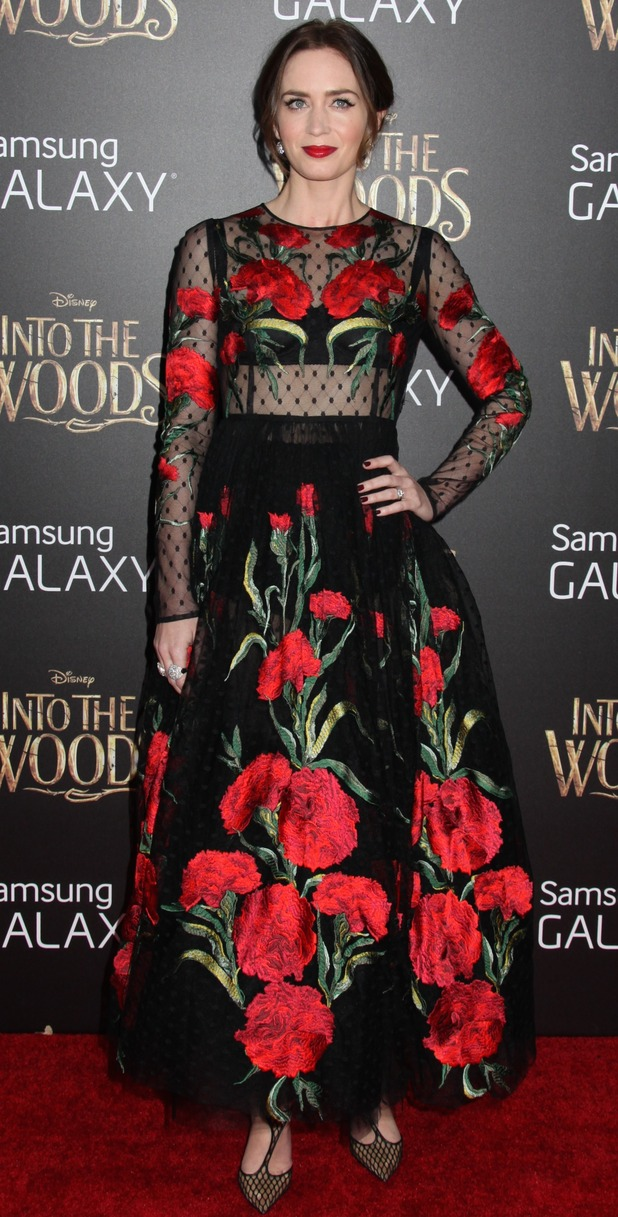 Emily Blunt at 'Into The Woods' film premiere, New York, 8/12/14