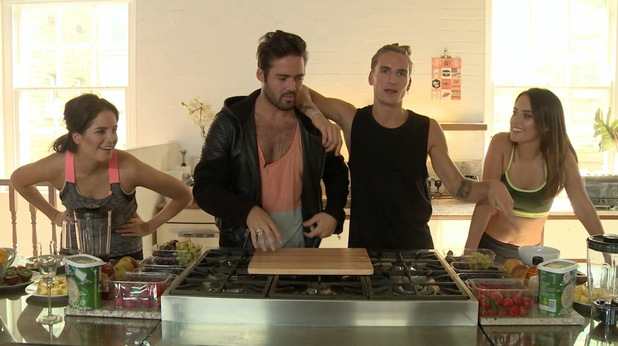 Made In Chelsea stars try out smoothies in latest DVD MIC:FIT