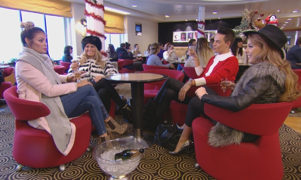TOWIE - Chloe joins the gang on the ferry - 10 December.