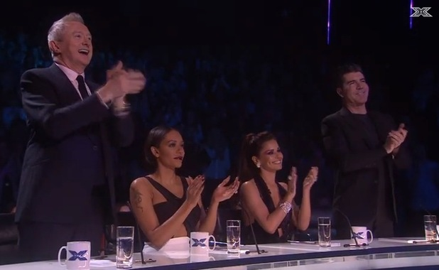 Michael Buble and Idina Menzel perform on The X Factor - 7 Dec 2014