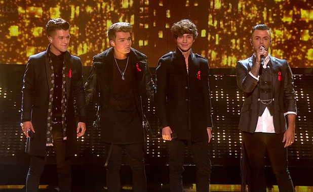 Union J performing on The X Factor - 30 November 2014.