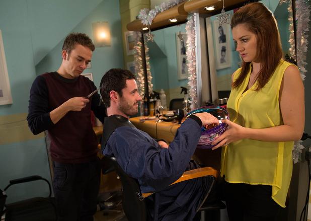 Corrie, Callum comes to the salon, Mon 15 Dec
