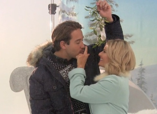TOWIE's Danielle Armstrong and James 'Lockie' Lock on Reveal's Christmas photo shoot.
