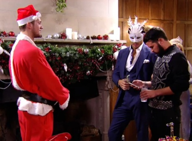 Dan Osborne dresses as Santa for The Only Way Is Essexmas TOWIE special - 11 Dec 2014