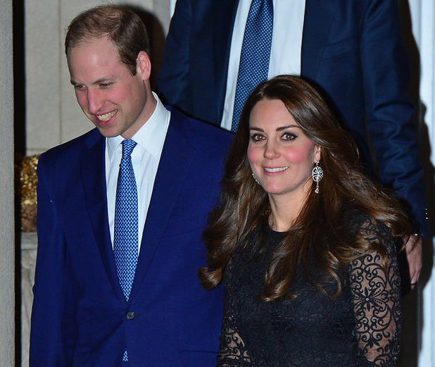 Kate Middleton and Prince William attend a private dinner in New York - 7 Dec 2014
