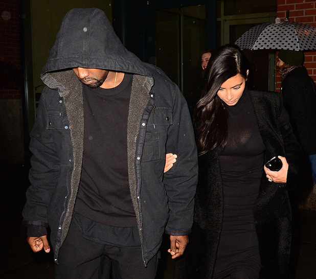 Kim Kardashian and Kanye west are seen out coming out of Serendipity 'Restaurant' in Soho on December 6, 2014 in New York City.