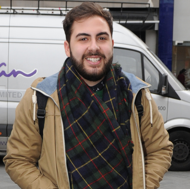 X Factor's Andrea Faustini out in London 9 December