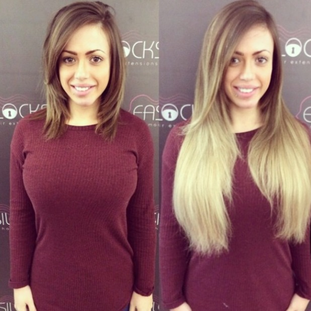 Holly Hagan shows off real hair to ombre extensions makeover with Easilocks, 9 December 2014