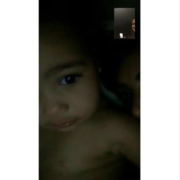 North West enjoys a video call with auntie Khloe Kardashian - 11 Dec 2014