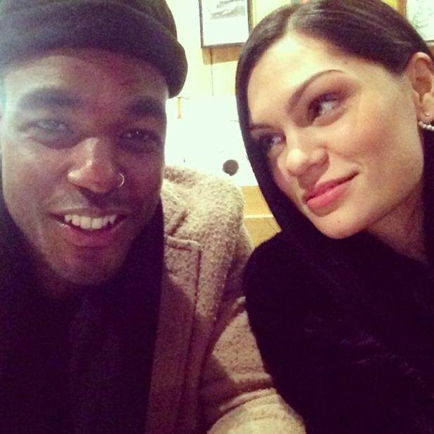 Jessie J in selfie with boyfriend Luke James, 12 December 2014