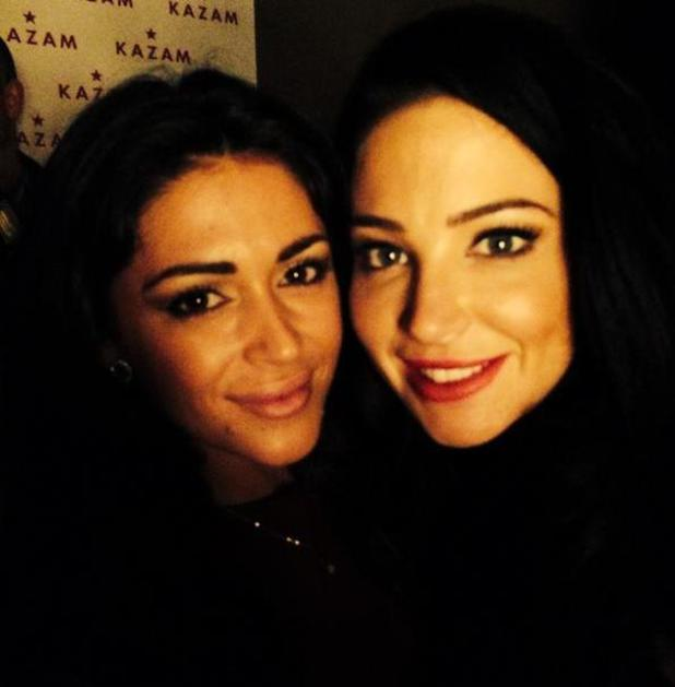 Casey Batchelor with Tulisa at the KAZAM Tornado 348 smartphone launch party at Raffles club - 12/10/2014 London, United Kingdom
