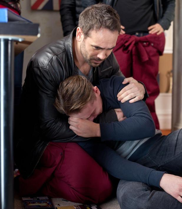 Hollyoaks, Joe comforts Jason, Mon 15 Dec