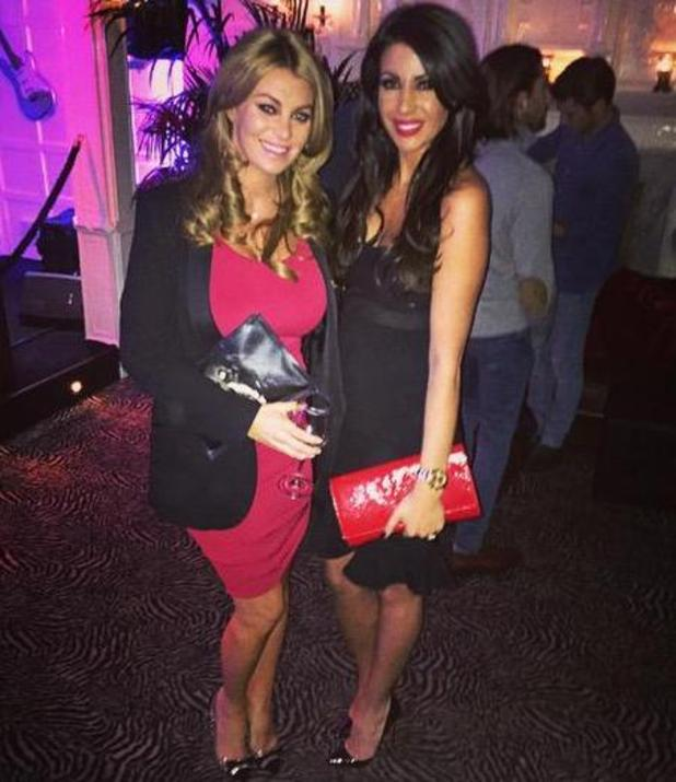 Cara Kilbey and Billi Mucklow enjoy a Christmas night out - 11 Dec 2014